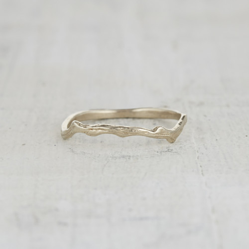 nature inspired twig ring