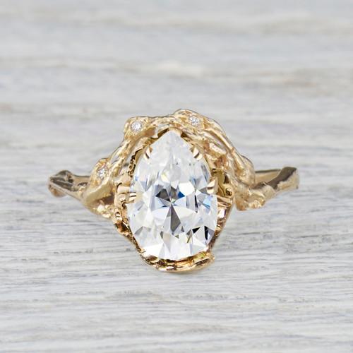 Custom Naples  Half Halo Ring Deposit