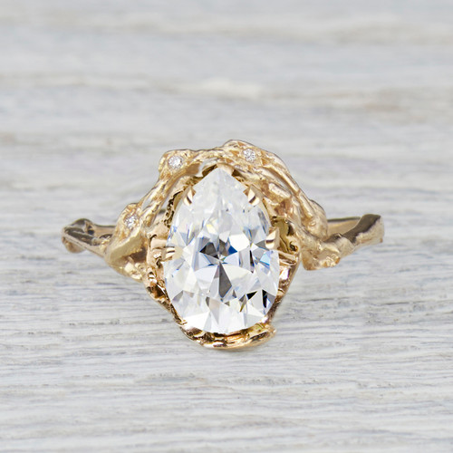 Custom Naples  Half Halo Ring Final Payment