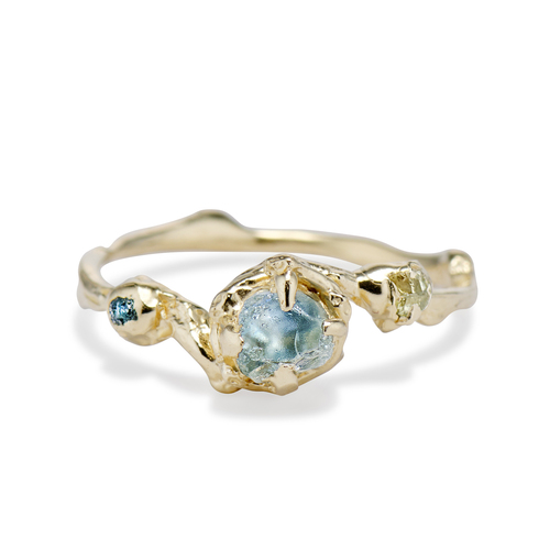 Montana Sapphire engagement ring by Olivia Ewing Jewelry