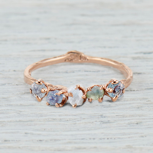 Montana Sapphire engagement ring twig jewelry by Olivia Ewing Jewelry