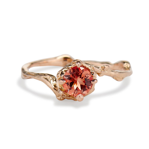 Naples Oregon Sunstone Solitaire Ring by Olivia Ewing Jewelry