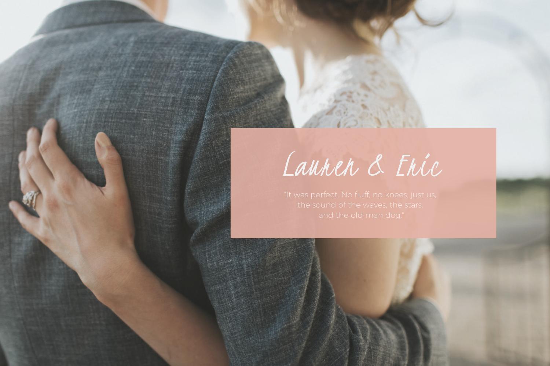 Lauren & Eric Wolf : June 1, 2016
