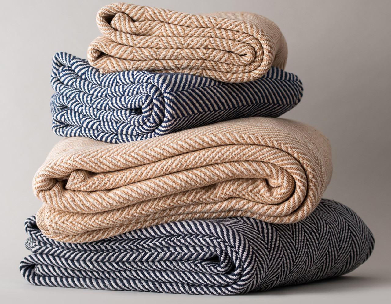 Brown or  Blue Striped Blankets
