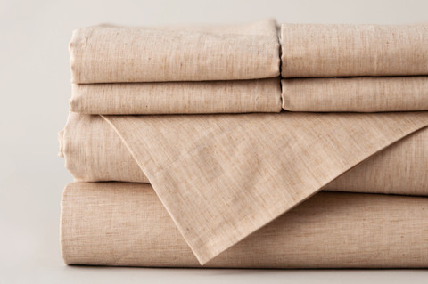 100% Made in the USA Organic Cotton Sheet Sets - Latte