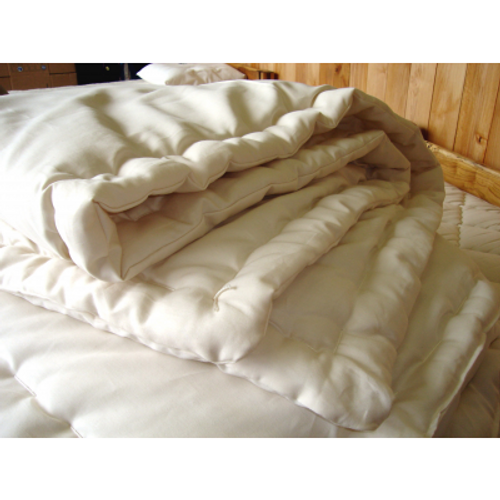 Comforter ECO WOOL, Organic Cotton Sateen Outer - Made in USA
