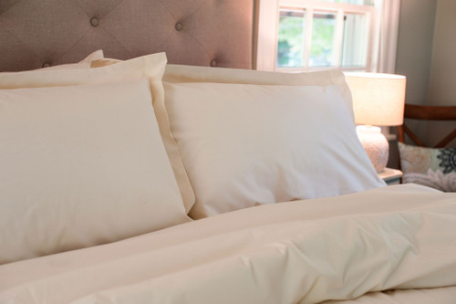 100% Made in the USA Organic Cotton Duvets & Shams - White