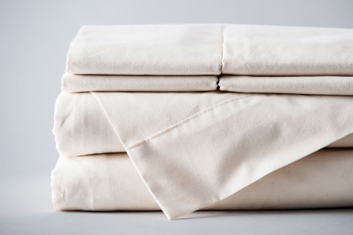 100% Made in the USA Organic Cotton Sheet Sets - Natural