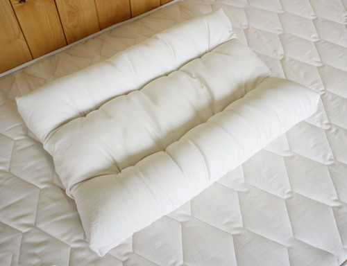 Pillow, Neck Support with Eco Wool - Made in USA