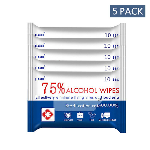 Alcohol Wipes (5-pack) 10each