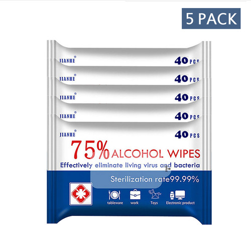 Alcohol Wipes (5-pack) 40each