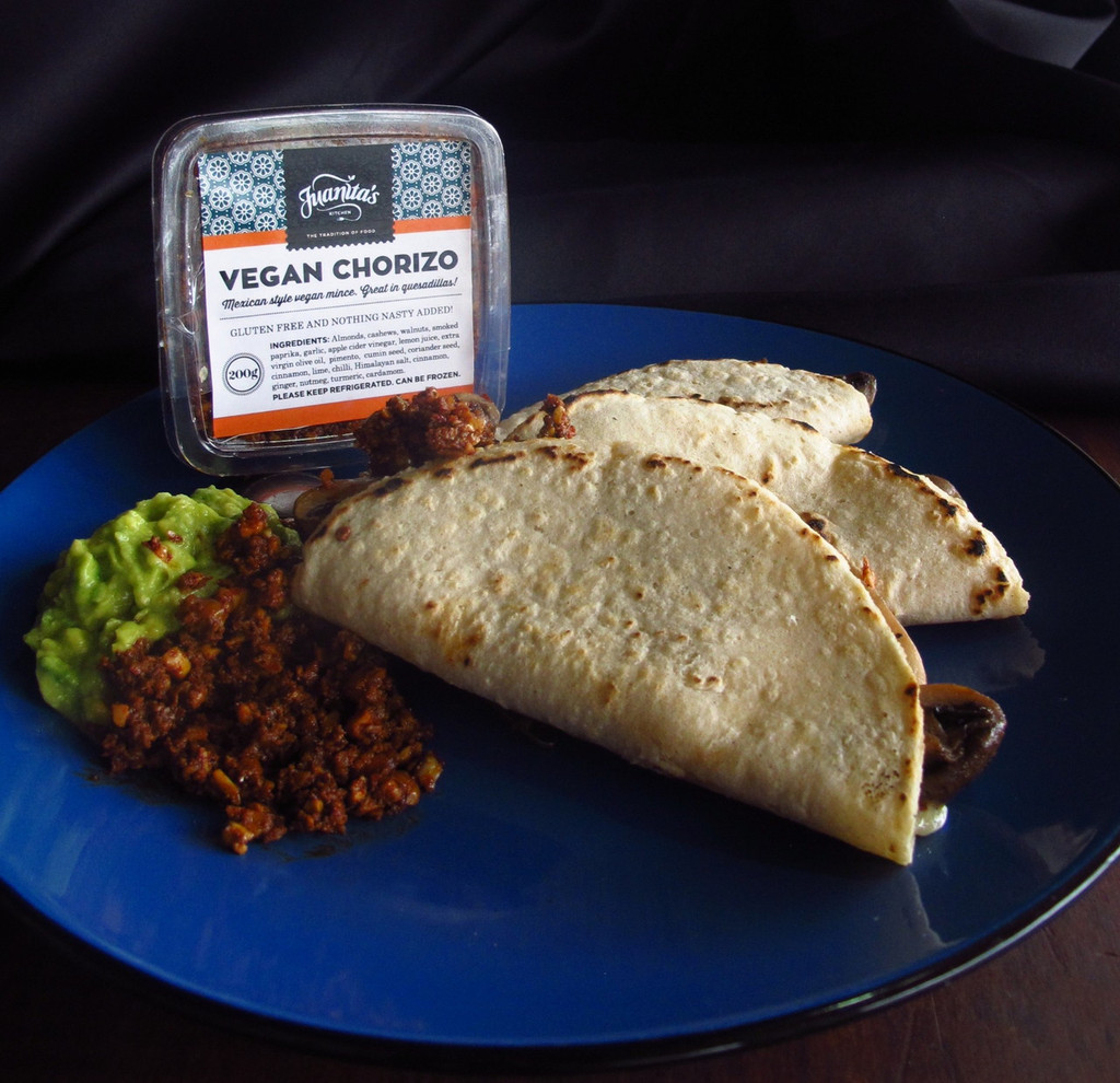 Vegan Chorizo in quesadillas
