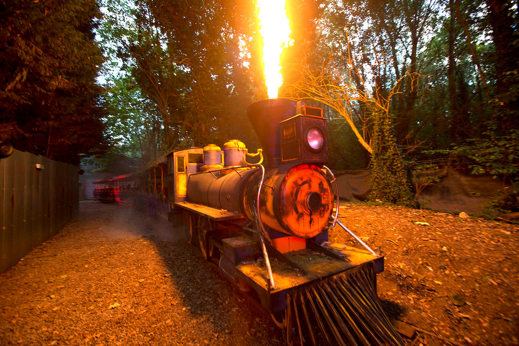 Venture into the past with the smoky, engrossing aroma of Thorpe Park Resort's Platform 15!