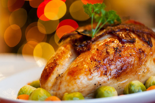 The rich, juicy and unmistakable aroma of roasted chicken, fresh from the oven.
