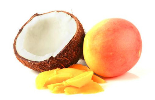An exotic combination of coconut and mango. Refeshing and tropical.