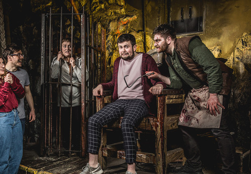Released in collaboration with The Edinburgh Dungeon, The York Dungeon and The Blackpool Tower Dungeon. This is the unnerving, damp, underground atmosphere of The Torture Chamber, a classic Dungeon show where 'volunteers' get a hands-on lesson in gruesome history!