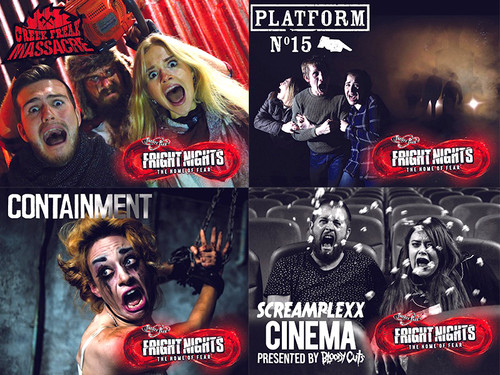 Give the gift of terror with this bundle of authentic aroma oils from Thorpe Park Resort's FRIGHT NIGHTS! This set includes the pongs of Creek Freak Massacre, Platform 15, Containment and the Fright Nights Cinema, all in 25ml bottles.