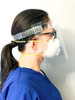 VisiGuard® 3.0 Face Shield With ZipStrap® 25-Pack side view with mask and glasses