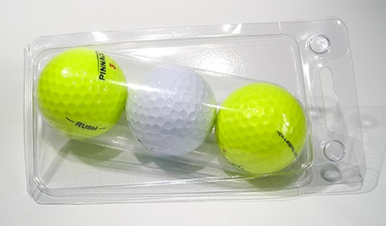 103-2TF - 3-Ball Round Bottom Golf Ball Clamshell