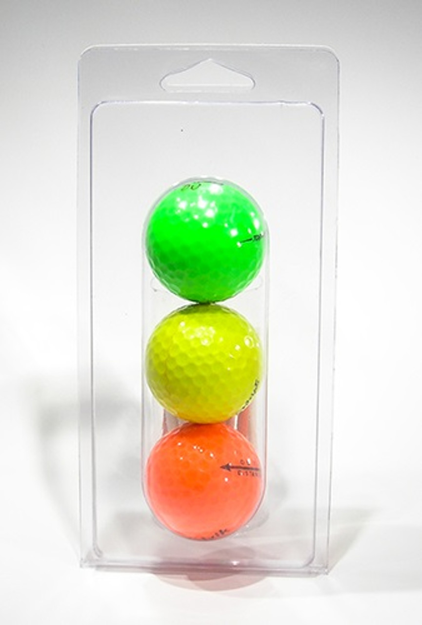 103-Large - 3-Ball Double Hang Hole Golf Ball Clamshell