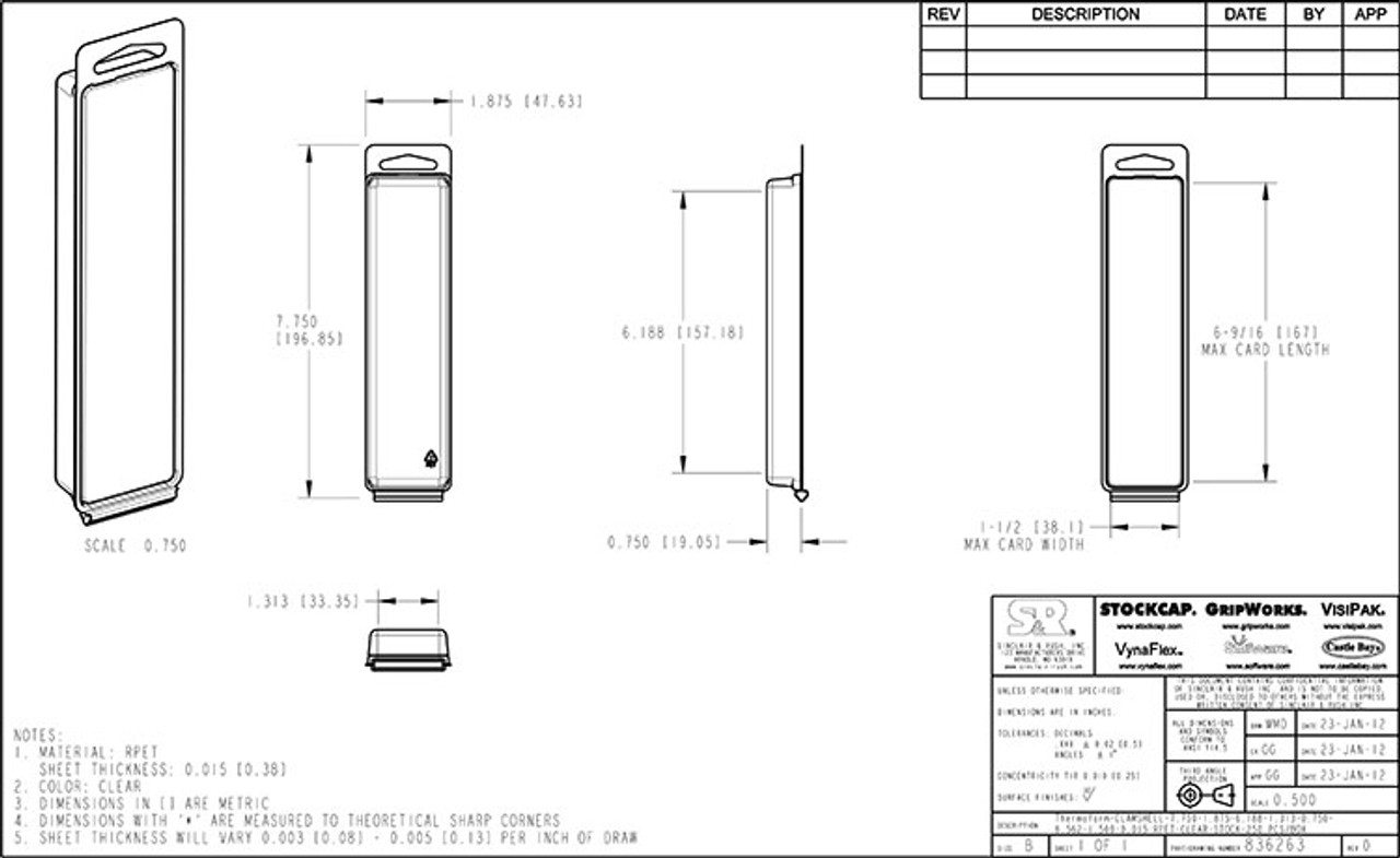 836263 - Stock Clamshell Packaging