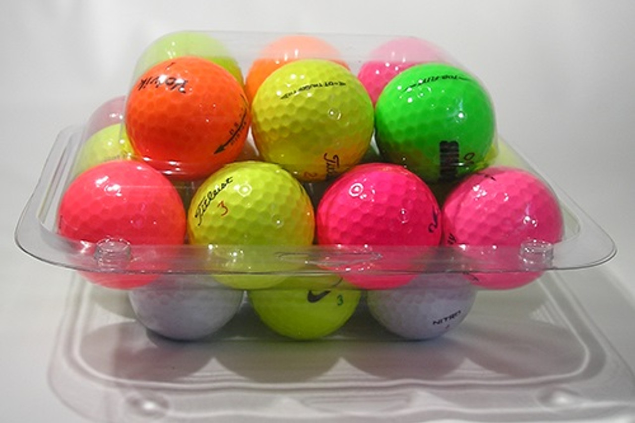 124TF - 24-Ball Flat Bottom Clamshell Container Golf Ball Clamshell