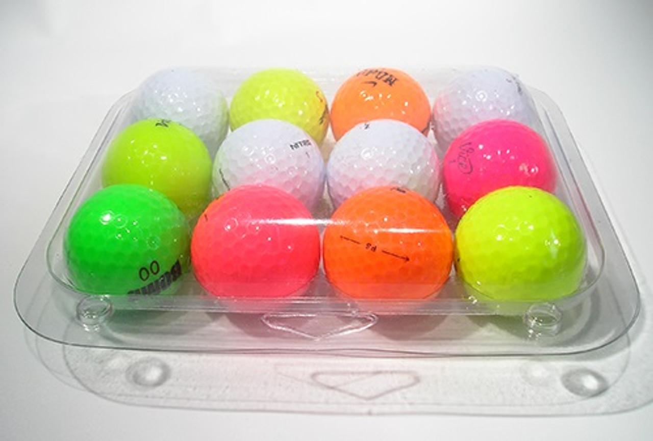 112-1TF - 12-Ball Egg Carton Bottom Golf Ball Clamshell