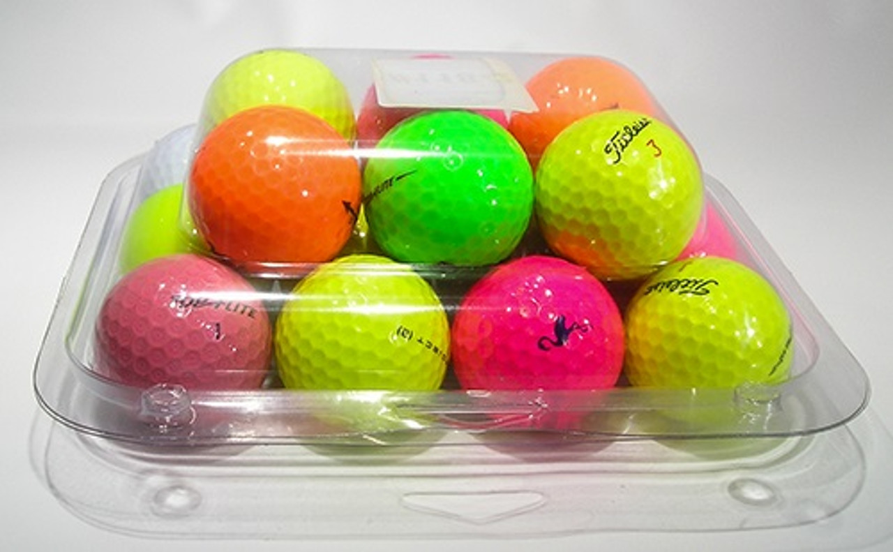 118-2TF - 18-Ball Flat Bottom Style Container Golf Ball Clamshell