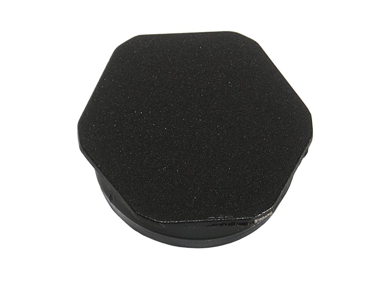 "1"" Black Hexagonal Poly Plug"
