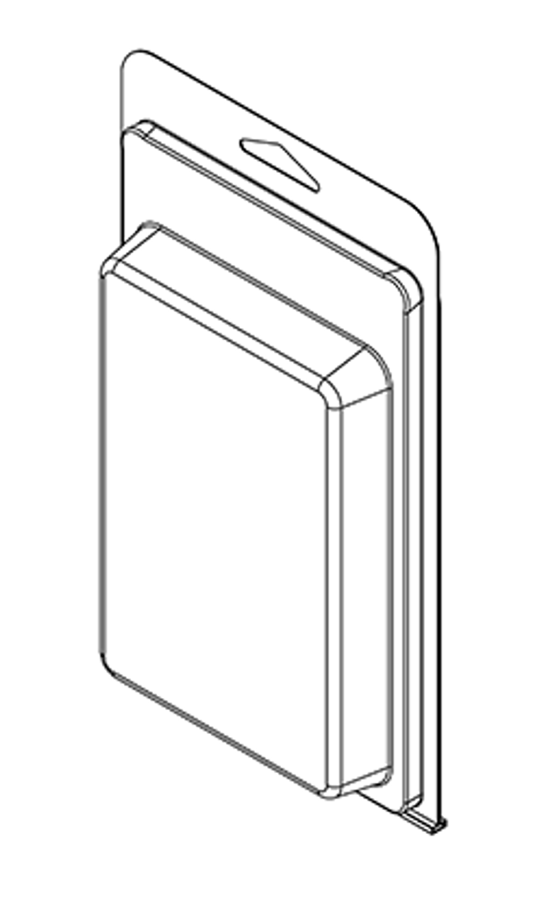 423TF - Stock Clamshell Packaging