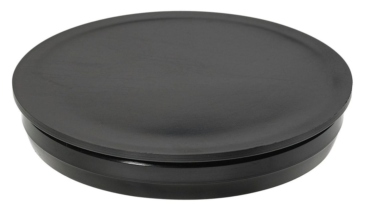 """7/8"""" Black Round Poly Plug"""