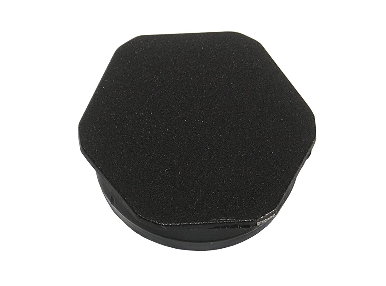 "1-3/4"" Black Hexagonal Poly Plug"