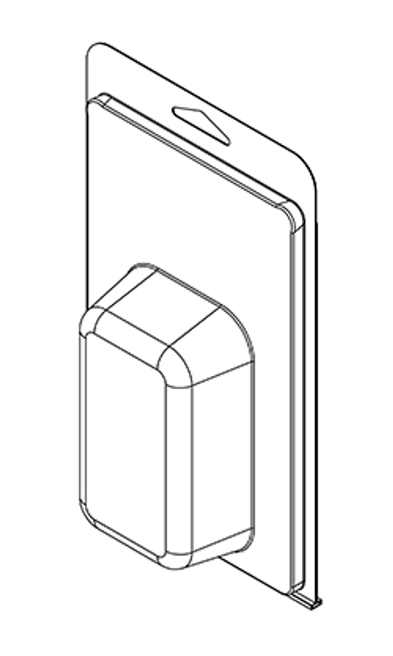 412TF - Stock Clamshell Packaging