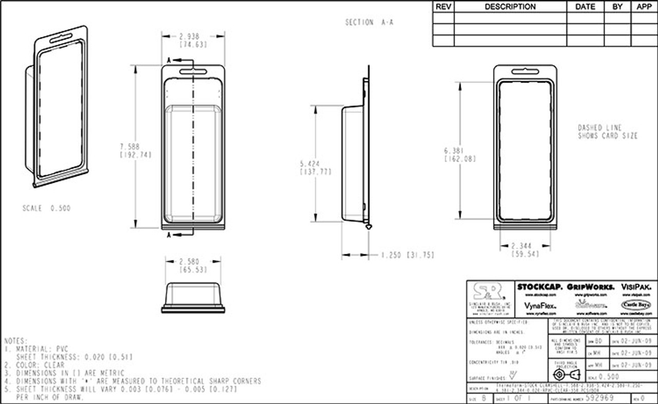592969 - Stock Clamshell Packaging