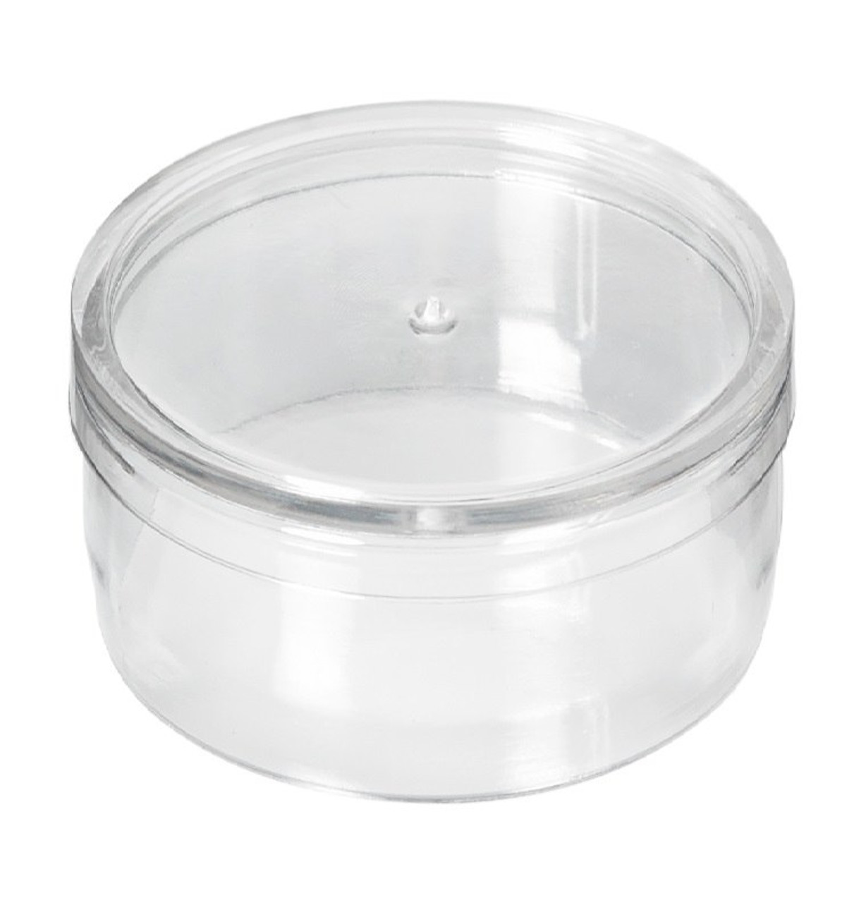"1-1/4"" Round Clear Poly Plug - Stock 1,000/box"