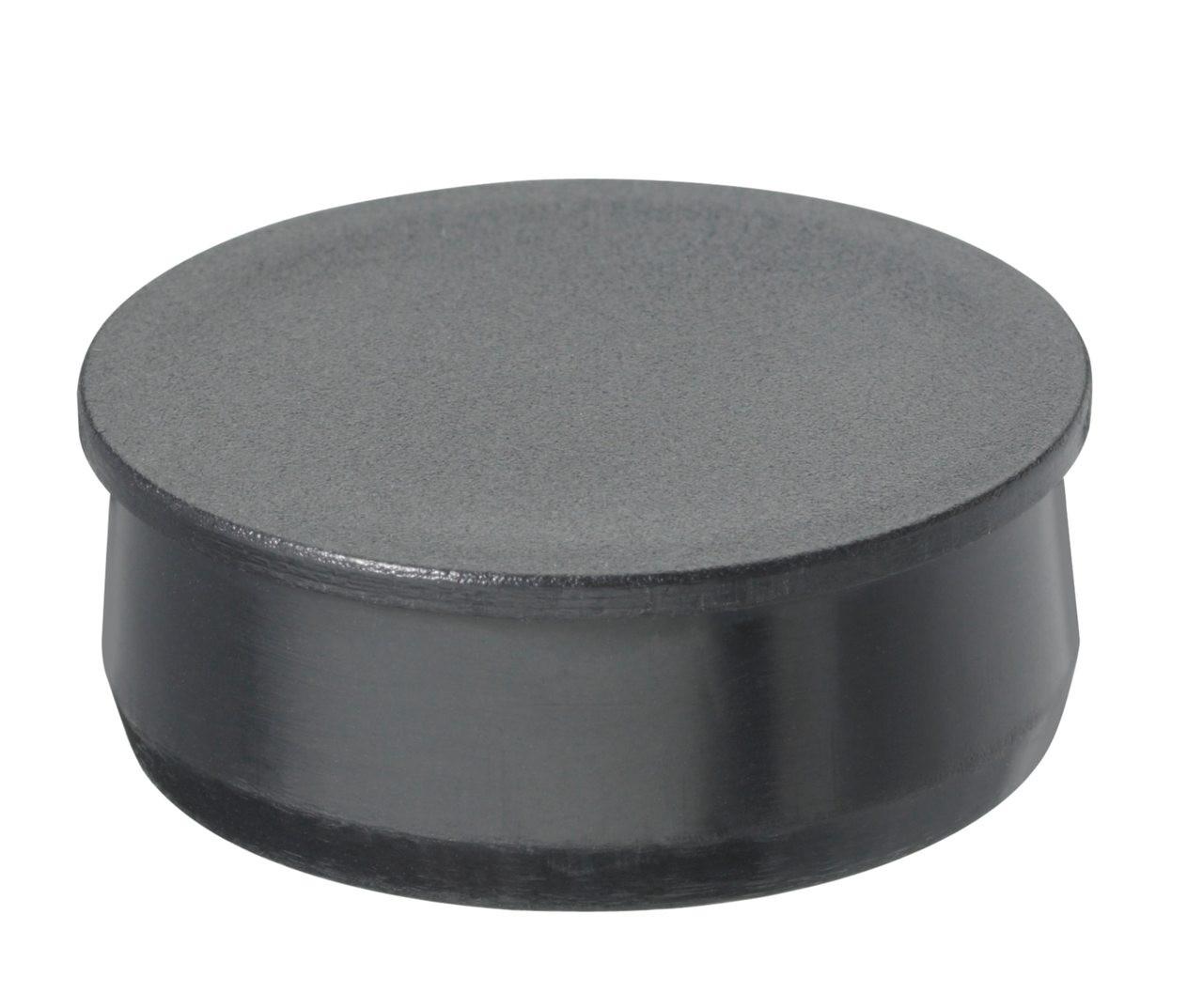 """2-1/4"""" Black Round Poly Plug"""