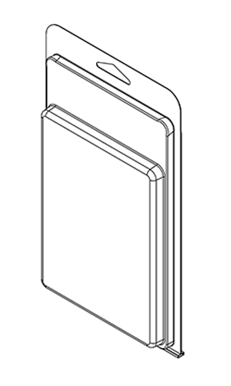 424TF - Stock Clamshell Packaging