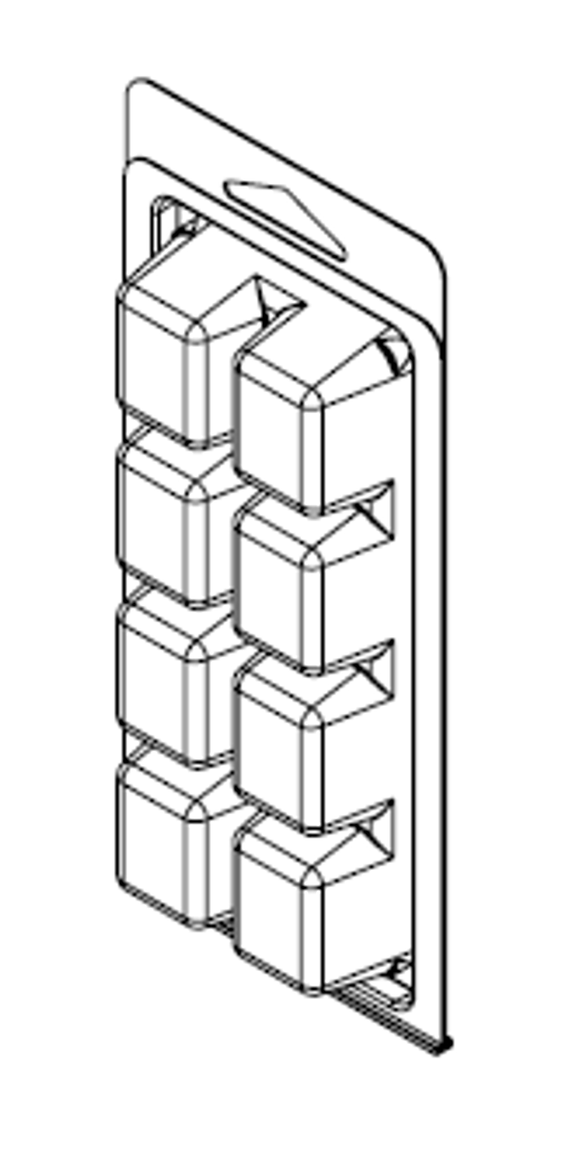 8-pocket Clamshell Packaging - Cavities