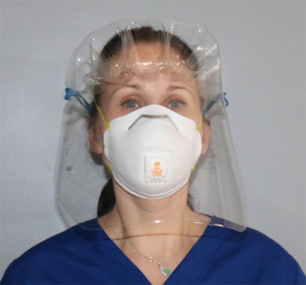 VisiGuard® 1.0 Face Shield With FlexBand with Mask front view