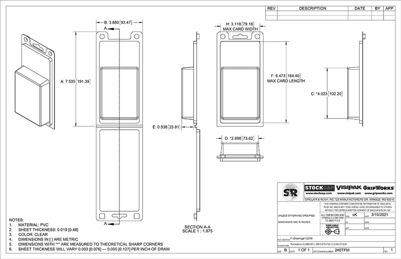 240TFM Stock Clamshell Technical Drawing