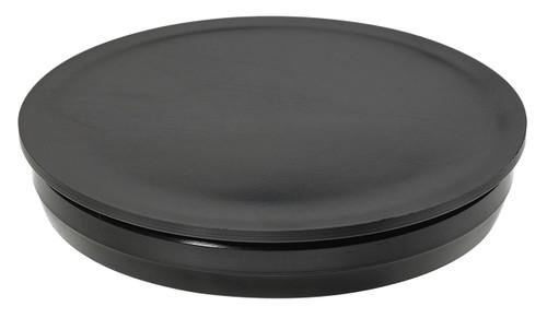"""3-1/2"""" Black Round Poly Plug"""