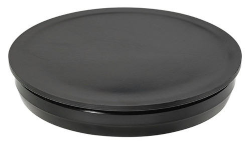 """1/4"""" Black Round Poly Plug"""