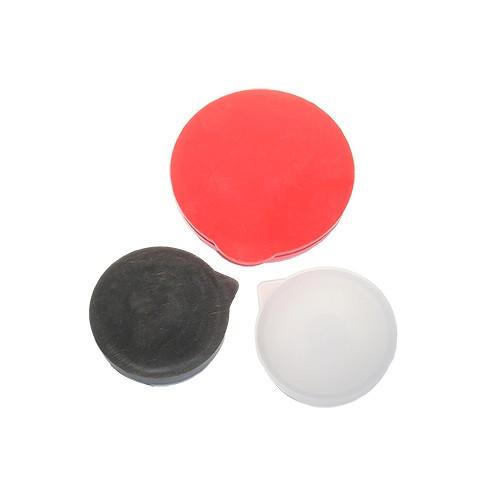 "1-5/8"" Round Poly Plug Flat Top - Black"