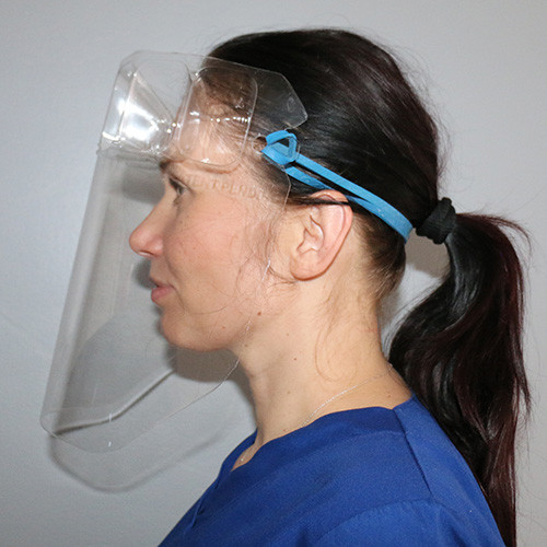 VisiGuard® 1.0 Face Shield With FlexBand Side View