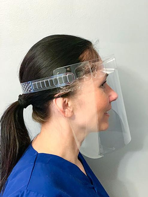 VisiGuard® 3.0 Face Shield With ZipStrap® 100-Pack side view