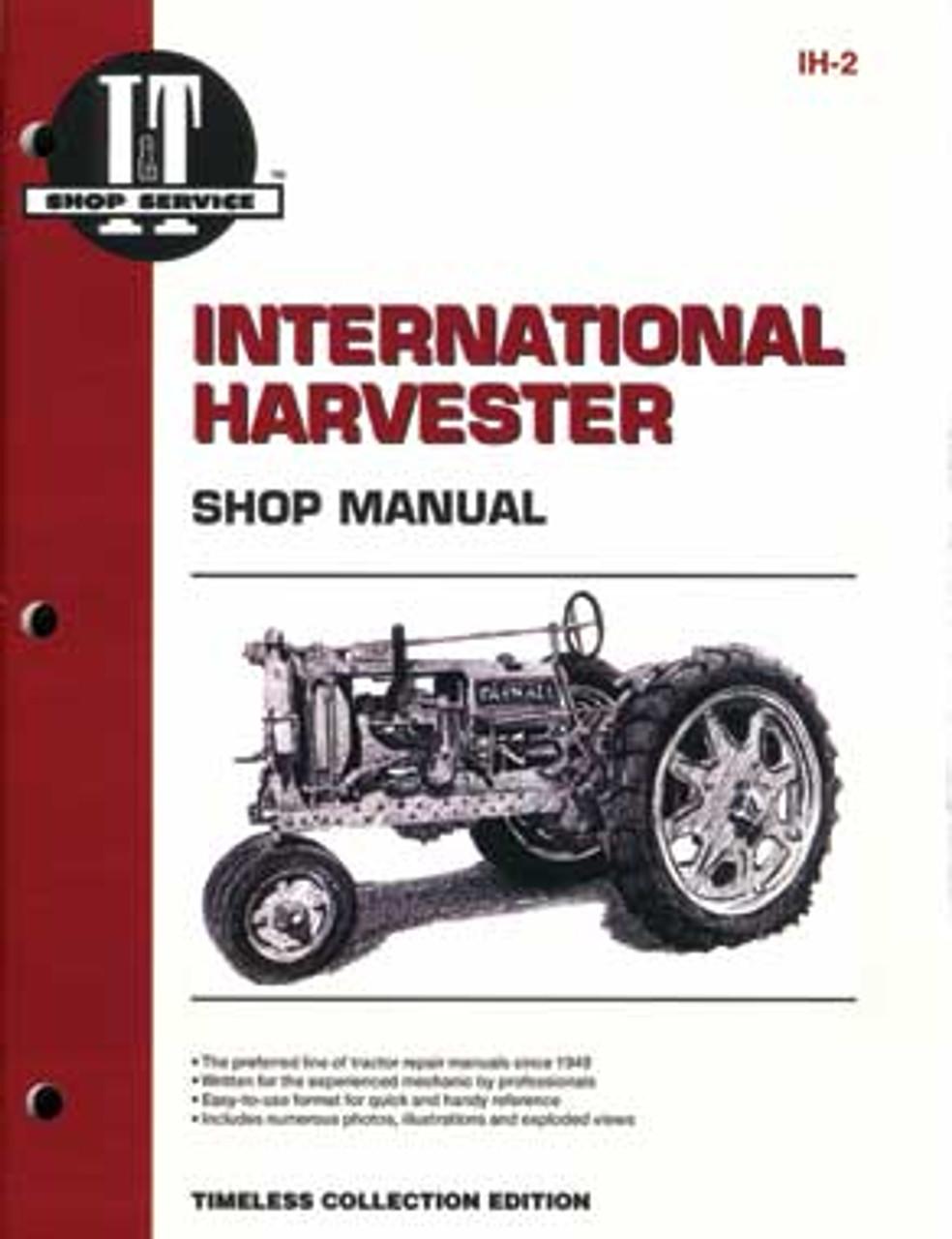 International Harvester Tractor Service Manual IT-S-IH10 ...