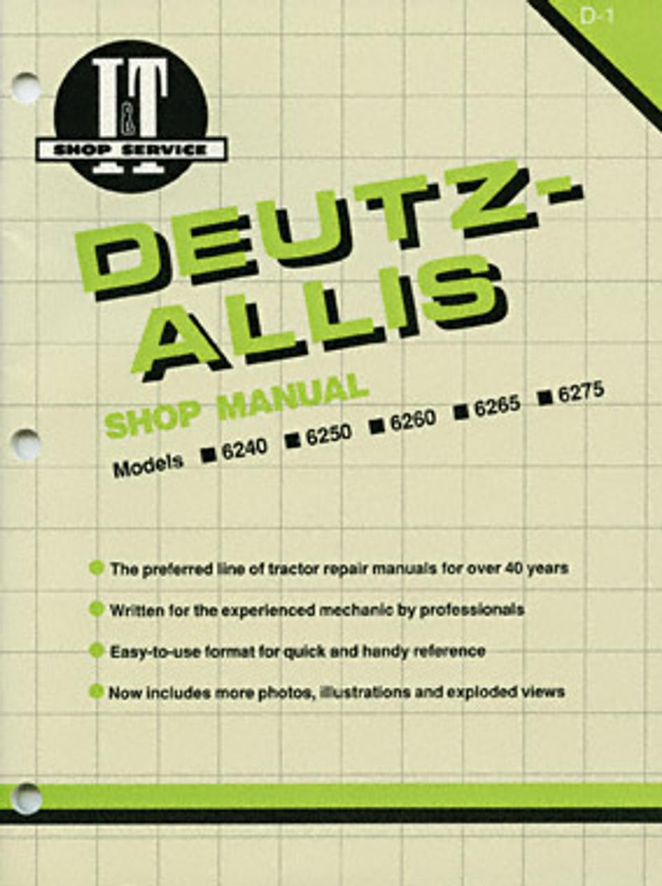 Tools & Equipment 6250 Tractor Operators Manual Allis Deutz ...