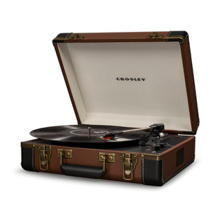 Executive Portable USB Turntable - Brown