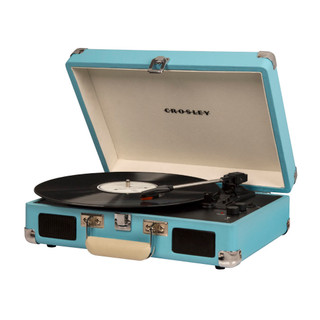 Cruiser Deluxe Portable Turntable - Turquoise