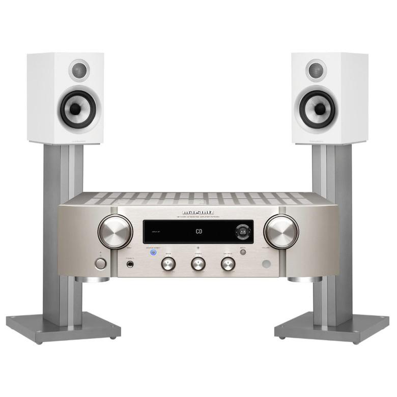 Marantz PM7000N Streaming Amplifier with B&W 707 S2 Speakers